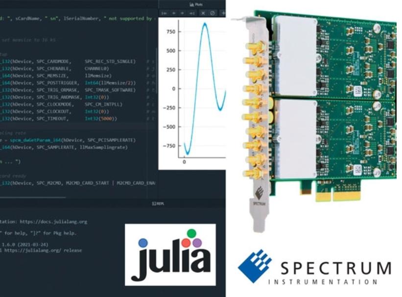 Spectrum儀器為高性能應用配備Julia工具包,開創行業先河